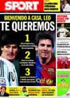 Portada diario Sport del 11 de Septiembre de 2009