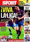 Portada diario Sport del 12 de Septiembre de 2009
