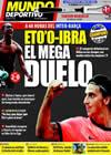 Portada Mundo Deportivo del 14 de Septiembre de 2009
