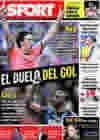 Portada diario Sport del 15 de Septiembre de 2009