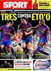 Portada diario Sport del 16 de Septiembre de 2009