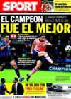Portada diario Sport del 17 de Septiembre de 2009