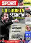 Portada diario Sport del 18 de Septiembre de 2009