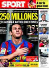 Portada diario Sport del 19 de Septiembre de 2009