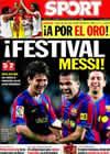 Portada diario Sport del 20 de Septiembre de 2009