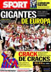 Portada diario Sport del 21 de Septiembre de 2009