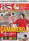 Portada diario AS del 22 de Septiembre de 2009