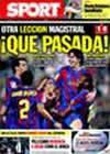Portada diario Sport del 23 de Septiembre de 2009