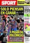 Portada diario Sport del 26 de Septiembre de 2009