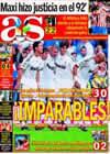 Portada diario AS del 27 de Septiembre de 2009