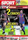 Portada diario Sport del 28 de Septiembre de 2009