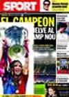 Portada diario Sport del 29 de Septiembre de 2009