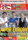 Portada diario AS del 30 de Septiembre de 2009