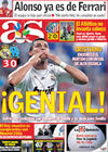 Portada diario AS del 1 de Octubre de 2009