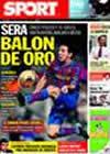 Portada diario Sport del 2 de Octubre de 2009