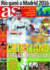 Portada diario AS del 3 de Octubre de 2009