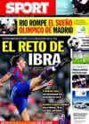 Portada diario Sport del 3 de Octubre de 2009