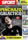 Portada diario Sport del 5 de Octubre de 2009