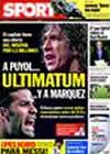 Portada diario Sport del 7 de Octubre de 2009
