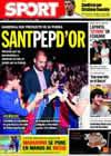Portada diario Sport del 8 de Octubre de 2009