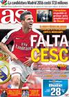 Portada diario AS del 9 de Octubre de 2009