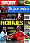 Portada diario Sport del 11 de Octubre de 2009