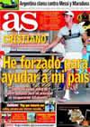 Portada diario AS del 12 de Octubre de 2009