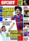 Portada diario Sport del 12 de Octubre de 2009