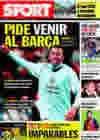 Portada diario Sport del 15 de Octubre de 2009