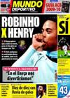 Portada Mundo Deportivo del 15 de Octubre de 2009