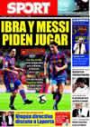 Portada diario Sport del 17 de Octubre de 2009