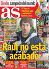 Portada diario AS del 19 de Octubre de 2009