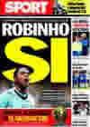 Portada diario Sport del 19 de Octubre de 2009