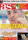 Portada diario AS del 20 de Octubre de 2009