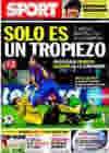 Portada diario Sport del 21 de Octubre de 2009