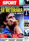 Portada diario Sport del 24 de Octubre de 2009