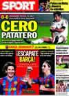 Portada diario Sport del 25 de Octubre de 2009