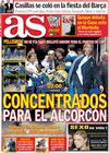 Portada diario AS del 27 de Octubre de 2009