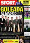 Portada diario Sport del 27 de Octubre de 2009