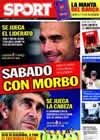 Portada diario Sport del 31 de Octubre de 2009
