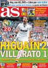 Portada diario AS del 1 de Noviembre de 2009