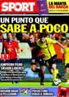 Portada diario Sport del 1 de Noviembre de 2009