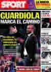 Portada diario Sport del 2 de Noviembre de 2009