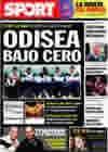 Portada diario Sport del 3 de Noviembre de 2009