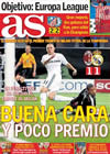 Portada diario AS del 4 de Noviembre de 2009