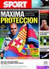 Portada diario Sport del 7 de Noviembre de 2009