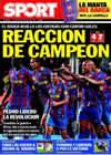 Portada diario Sport del 8 de Noviembre de 2009