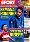 Portada diario Sport del 9 de Noviembre de 2009
