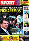 Portada diario Sport del 10 de Noviembre de 2009