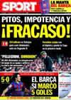 Portada diario Sport del 11 de Noviembre de 2009